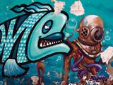 Fototapeta Młodzieżowe - Beautiful street art graffiti