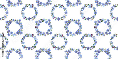 Photo sur Toile Papillons dans Grunge Wildflower cherry flowers flower pattern in a watercolor style. Full name of the plant: cherry flowers. Aquarelle wild flower for background, texture, wrapper pattern, frame or border.