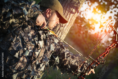 Modern Bow Hunter Poster Mural XXL