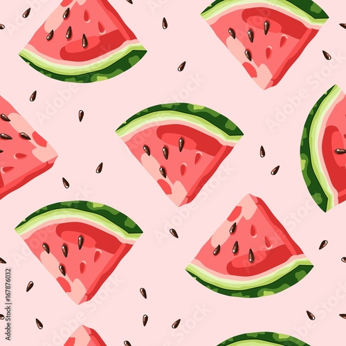 Cotton fabric Watermelon pattern vector