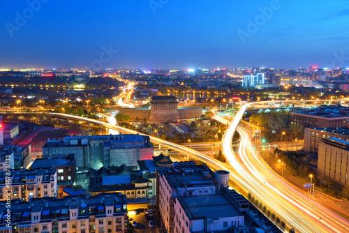 Fototapety, obrazy: Deshengmen Arrow Tower scenery at night,Beijing,China.