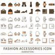 ファッション雑貨 アイコン セット