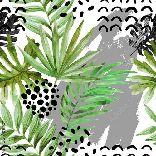 nowoczesny-wzor-z-tropikalnymi-liscmi