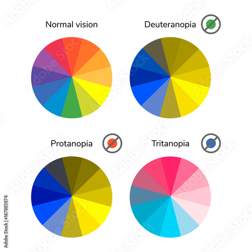 vector illustration, infographics, color wheel, palette, normal Canvas Print