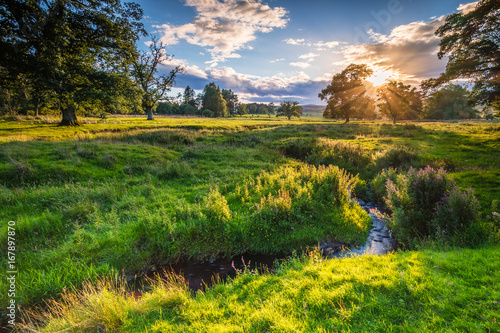Printed kitchen splashbacks River River Aln under Golden Light / The River Aln runs through Northumberland from Alnham to Alnmouth. Seen here meandering in farmland just after Alnham