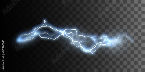 Photographie  Thunderbolt or lightning visual effect for design