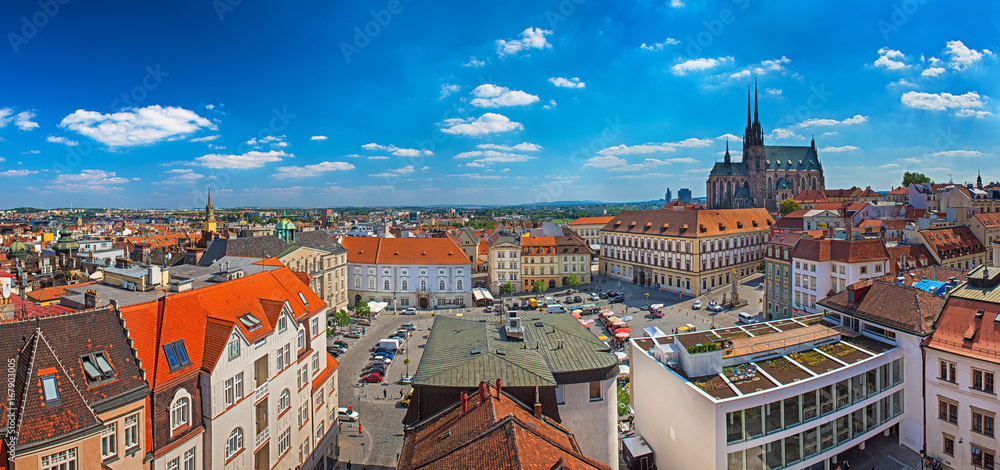 Fotografie, Obraz  Panoramic view on Brno, Czech Republic