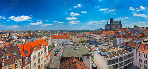 Fotobehang Oost Europa Panoramic view on Brno, Czech Republic