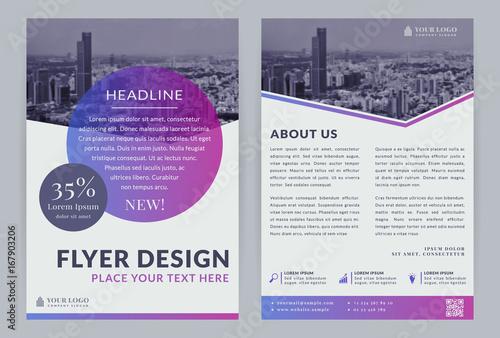 Obraz Business flyer template. - fototapety do salonu