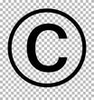 copyright symbol on transparent background. copyright sign. copyright icon