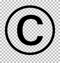 Copyright Symbol On Transparen...