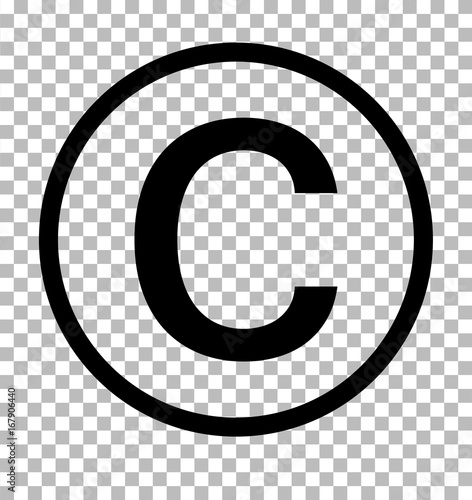 Fotografía  copyright symbol on transparent background