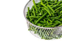 Green String Beans In  Metal