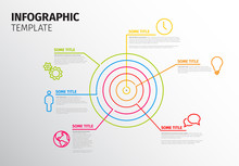 Vector Infographic Template With Circle Target