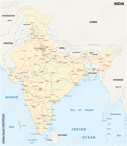 India road map with the main cities - Buy this stock vector ... on south florida map showing cities, south central asia major cities, world map showing major cities, map cities major league sports, colorado cities, map of major asian cities, capital of texas major cities, map showing asia,