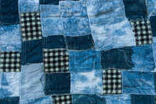 Fabric Patchwork Background An...