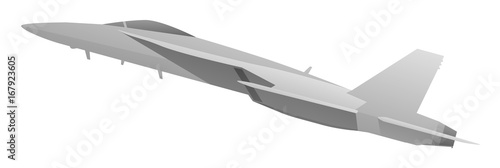 Photo  Modern Military Fighter Jet Aircraft Vector Illustration