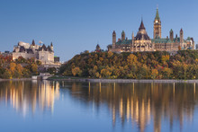 Chateau Laurier Hotel And Parliament Hill, Ottawa, Ontario, Canada