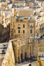 Malta, South Eastern Region, Valletta. Built In 1885, Victoria Gate Is The Main Entrance Into The City From Grand Harbour.