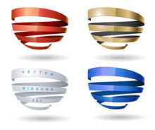 Set Of Spiral Ribbons From Dif...