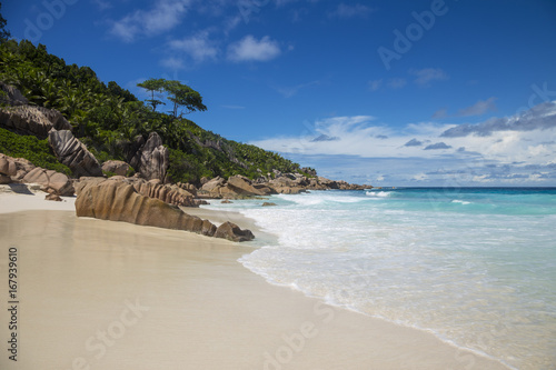 Foto op Canvas Tropical strand Grand Anse beach, La Digue, Seychelles