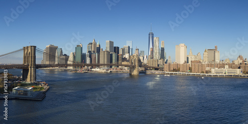 Brooklyn Bridge and Downtown Manhattan, New York City, USA