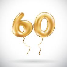 Vector Golden Number 60 Sixty ...