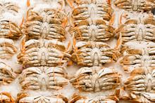 Fresh Crabs At A Market