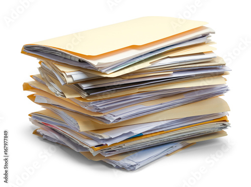 Fotomural  Files Piled Up