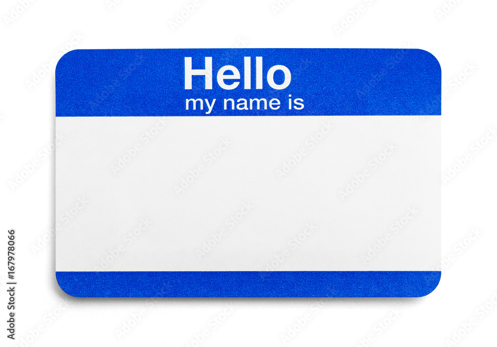 Photo Art Print Hello My Name Is Tag Europosters