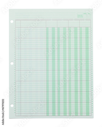 Photo Paper Green Graph