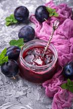 Jar With Plum Jam
