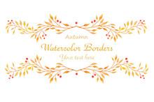 Watercolor Autumn Borders