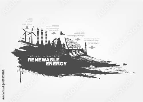 Wall Murals Newspapers texture grunge Renewable energy