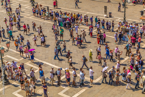 Plakat Tłum na Placu Świętego Marka w Wenecji