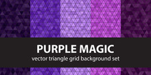 Triangle Pattern Set Purple Ma...