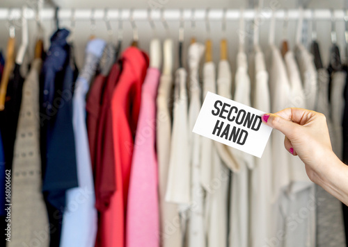 Photo  Second hand clothing shop