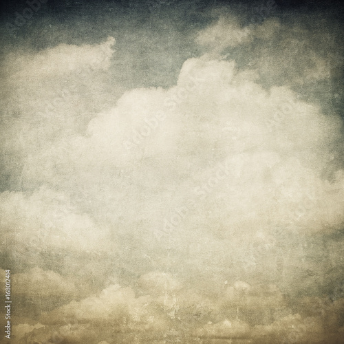 Staande foto Retro vintage image of cloudy sky
