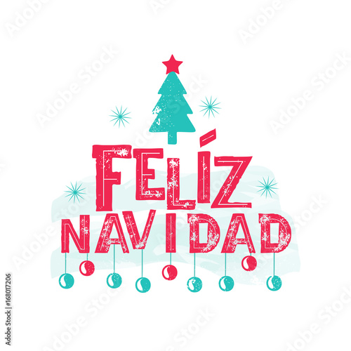feliz navidad merry christmas spanish language