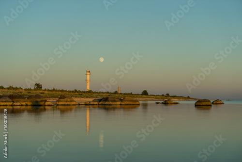 Fotografie, Obraz  Skew lighthouse in the Baltic Sea
