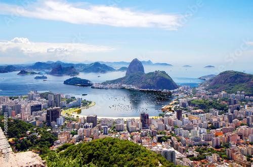In de dag Rio de Janeiro Бразилия. Рио-де-Жанейро.Общий вид города.