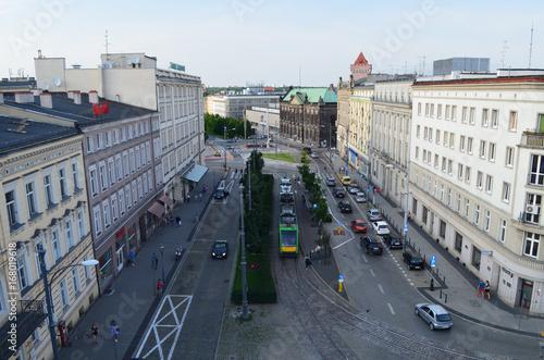 Plakat Centum Poznania latm / Poznań centrum w lecie, wielkopolskie, Polska