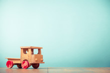 Retro Old Toy Wooden Truck Fro...