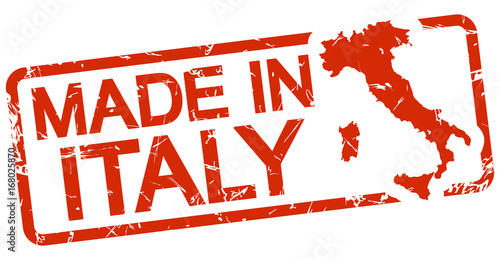 red stamp with text Made in Italy Canvas Print