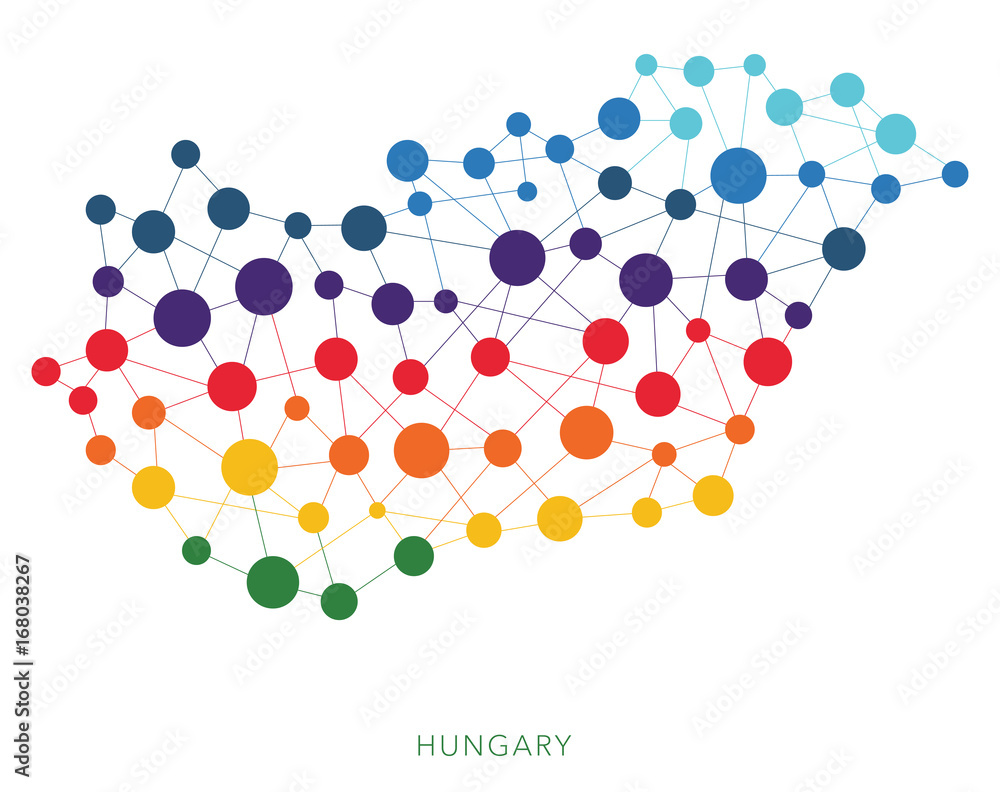 Fototapety, obrazy: dotted texture Hungary vector background