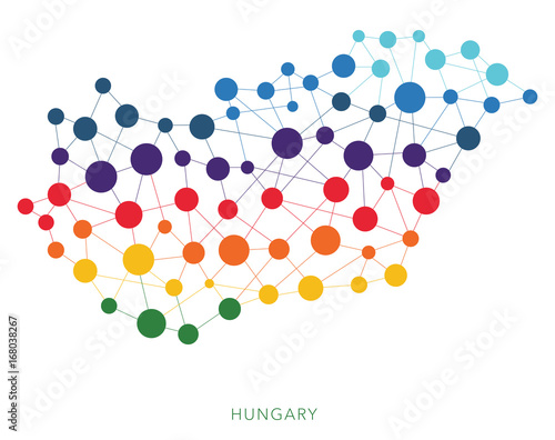 Photo  dotted texture Hungary vector background