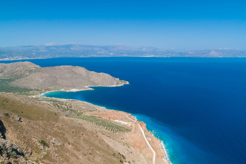 Amazing Bay view with blue lagoon on Crete, Greece