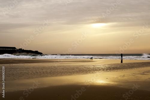 Fotografía  sunset at Lances Beach in Tarifa, Spain