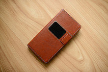 Brown Leather Case For Mobile ...