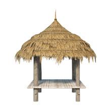 3D Rendering Straw Pavilion On...